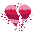 broken heart in mexican pinata style vector image vector image