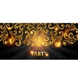 Celebration party banner with golden ornament vector image vector image