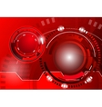 Circle red abstract techno background vector image
