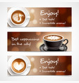 coffee advertising horizontal banners vector image vector image