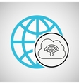 connection concetp globe cloud wifi vector image vector image