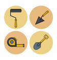 construction round icons vector image