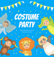 costume party banner festive invitation card vector image vector image
