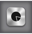 Diagram icon - metal app button vector image vector image
