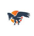 eagle flying modern logo design vector image vector image