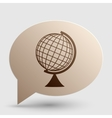 Earth Globe sign Brown gradient icon on bubble vector image vector image