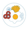 egg breakfast gourmet vector image vector image