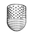 emblem with flag united states of america vector image vector image