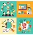 Flat design concept icons for business Icons vector image vector image