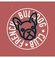 French Bulldog Club Circle Emblem Design vector image