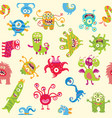 funny monsters seamless ornament vector image vector image