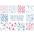 Geometric memphis seamless isolated patterns vector image vector image