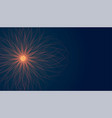 glowing star shape with light rays burst vector image vector image