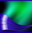 green and blue wavy design vector image