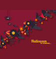 halloween holiday design with decorative objects vector image