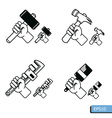 Hand tools icon set vector image vector image