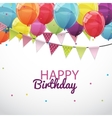 Happy Birthday Card Template with Balloons and vector image vector image