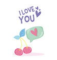 i love you tropical card vector image
