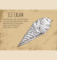 Ice cream poster with sketch