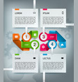 infographic timeline template with icons vector image vector image
