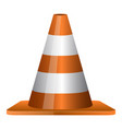 isolated traffic cone vector image