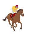 jockey riding race horse vector image vector image