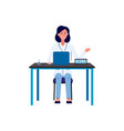 laboratory researcher female character flat vector image vector image