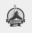 logo with a pair of tied ice skates vector image