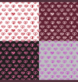 Love seamless pattern romantic doodle hearts vector image vector image