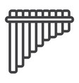 mexican pan flute line icon music vector image