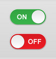 on and off toggle switch button vector image vector image