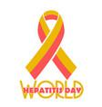 poster world hepatitis day vector image vector image
