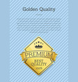 premium big quality golden label poster gold stamp vector image vector image