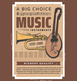 professional music store musician instruments vector image vector image