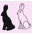 rabbit silhouette vector image