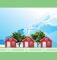 row residential houses vector image vector image