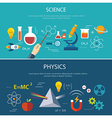 science and physics education concept vector image vector image