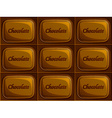 seamless chocolate vector image