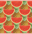 seamless pattern with ripe fruit on a red backdrop vector image
