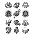 Set casino badge vector image vector image