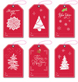 set new year gift tags template hand drawn vector image