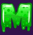 slime font type letter m latin alphabet green vector image vector image