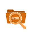 success word magnifying glass vector image vector image