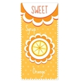 Sweet fruit labels for drinks syrup jam Orange vector image vector image