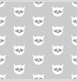 tile pattern with white cats on grey background vector image