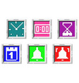 time related icon vector image