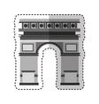triumph arch monument icon vector image
