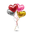 valentine heart balloons vector image