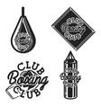 vintage boxing club emblems vector image vector image