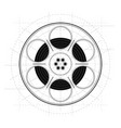 vintage retro sketch style movie film reel on vector image vector image